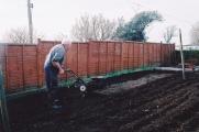 Rotavating the cottage garden