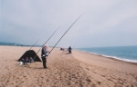 Fishing from Chesil Beach