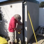 Finishing touches to the disabled toilet