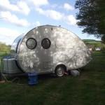 """""""Bubble"""" caravan at our site"""