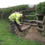 Mending stiles on the conservation walk