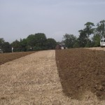 Ploughing on the farm