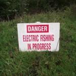 Electro fishing river Char